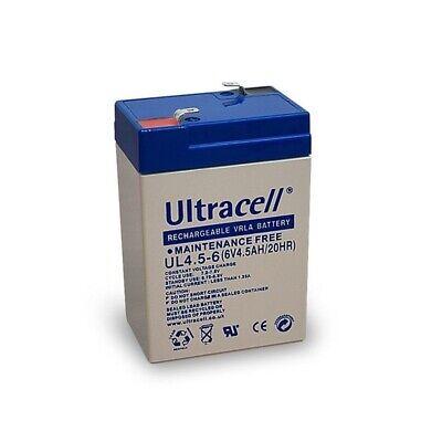 Blei-Gel-Akku 6V 4,5Ah UL4.5-6 Ultracell L70xB47xH101mm Anschluß T1/187 (4,8mm)