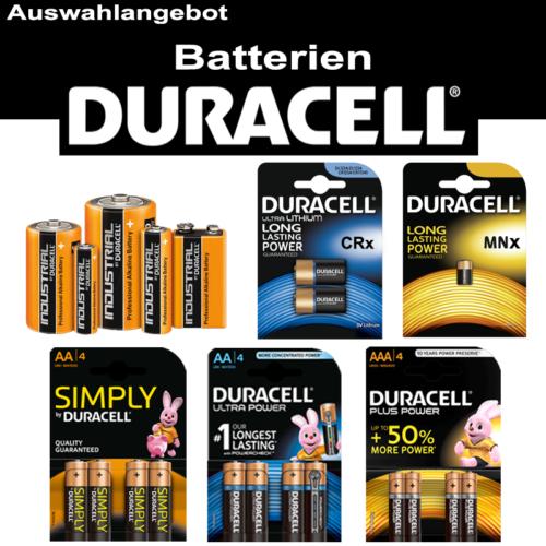 DUARACELL Batterie Spezial  AA R6 Mignon AAA Micro C Baby R14 D Mono R20 9V-Bloc
