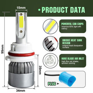 Ampoules (2) DEL 9006/HB4 11000LM 6500K LED headlight bulb