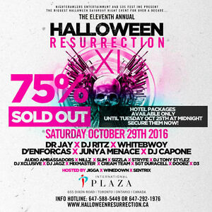 LAST MINUTE HALLOWEEN RESURRECTION TICKETS (DROPOFFS)