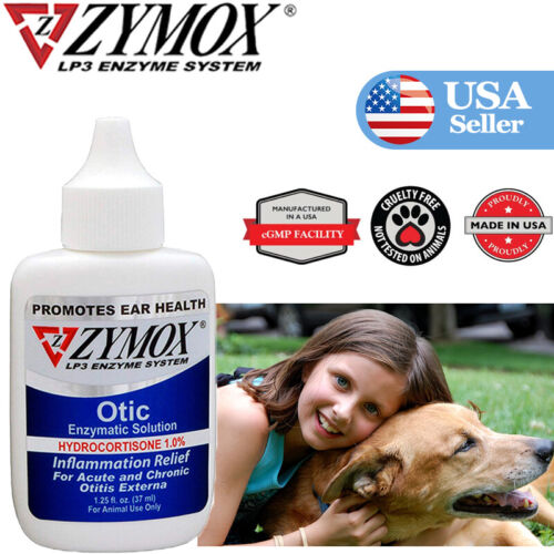 1.25oz/37ml ,ZY MOX Pet King Brand Otic Pet Ear Treatment with Hydrocortisone