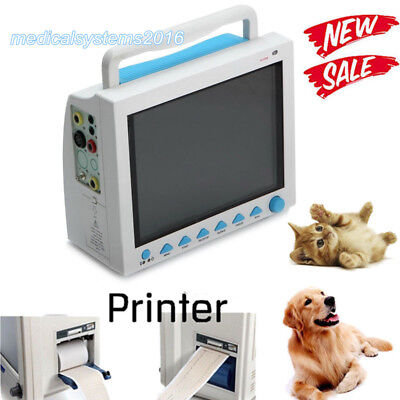 Vet Veterinary Patient Monitor Ecg Ekg Spo2 Pr Nibp 6 Parameters With Printer Us