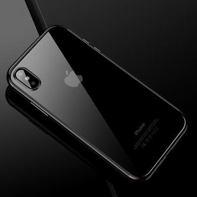 iPhone XHülle Premium Hochglanz+++ cover case bumper  slim soft TPU +++ schwarz - Soft Tpu Bumper Case