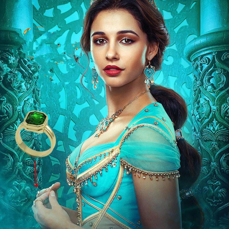 New 2019 Aladdin Green ring Cosplay Princess Jasmine woman G
