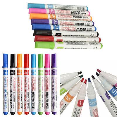 Whiteboard Markers Pens White Board Dry-Erase Marker 8 Colors Set Fine Size