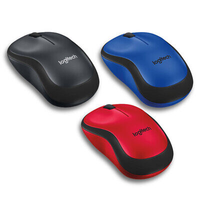 Logitech M220 Silent Wireless Mouse - Black, Red, or Blue - No USB Receiver