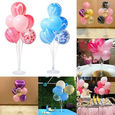 Lot Plastik Luftballon Halter Stäbe Tasse Hochzeitsparty Dekor Ballon Neu