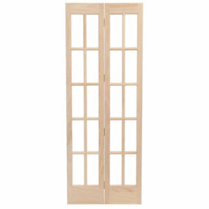 2 Bifold French Doors with Frosted Glass (New)