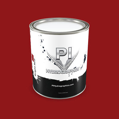 Pi Hydrographic Bright Red Water Based Paint Quart Hydro Dipping Paint