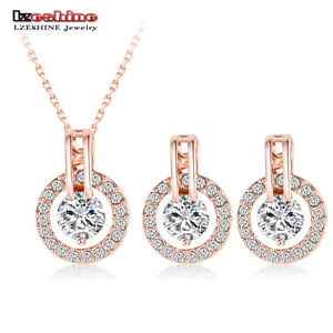 WEDDING Sets Rose Gold Plated Necklace @ $ 4.00 FREE SHIPPING