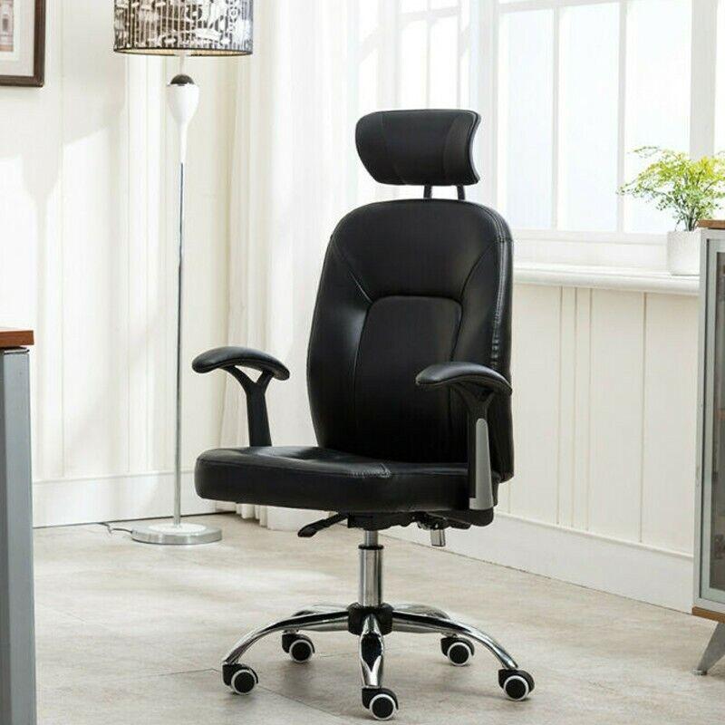 PU Leather Ergonomic Office Executive Computer Desk Task Off