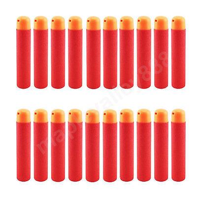 9.5 x 2cm Balles de Recharge Fléchettes pour Enfants Jouet Nerf Pistolets Rouge