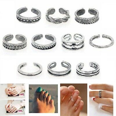 10 pc Open Toe Ring Set