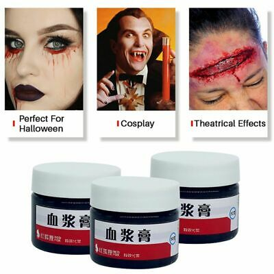 Zombie Halloween Face Paint (Halloween Fake Blood Zombie Scars Scab Wound Face Body Paint Costume Make-Up)