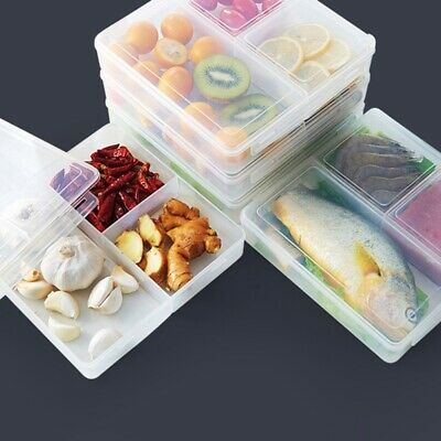 3 Compartment BPA Free Plastic Meal Prep Food Containers Lunch Box Lid