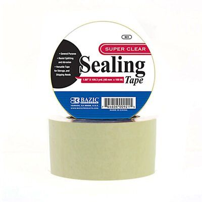 Bazic 1.88 X 109.3 Yards Transparent Clear Packing Tape