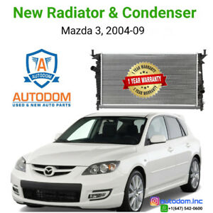 New Radiator and Condenser Mazda 3, 2004-09