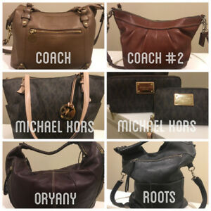 Used Handbags-  Coach/ Michael Kors/ Oryany/ Roots