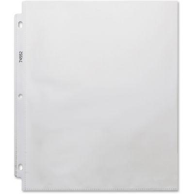 Business Source Top-loading Sheet Protectors 3-hole 200 Per Pk 5bx Cl 74552