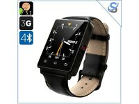 NO.1 D6 Smart Watch 3G Android 5.1 Bluetooth WiFi GPS Pedometer Barometer Black