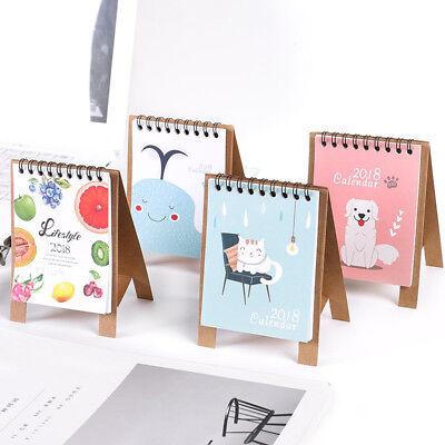 2017-2018 Cute Cartoon Animal Desk Desktop Calendar Schedule Table Office Plan