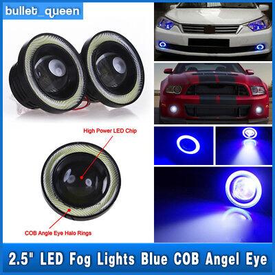 High Power LED Projector Fog Light w/ Blue COB Halo Angel Eye Ring For Nissan US