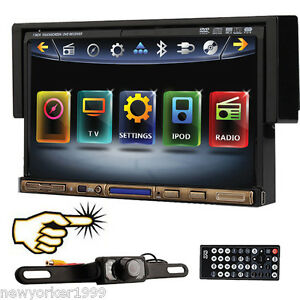 1-Din-7-In-dash-Audio-Car-Stereo-CD-DVD-Player-Monitor-TV-Ipod-BT-Radio-CAMERA