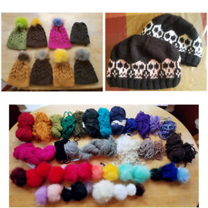 Assorted hand-crafted wool hats, made to order (kids/adults)