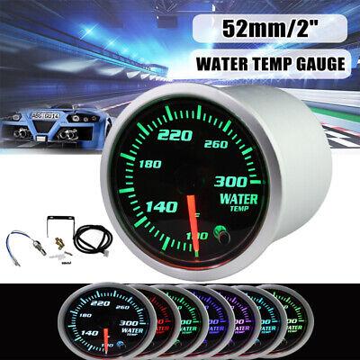 Universal 2'' 52mm 7 Color LED Car Water Coolant Temperature Temp Gauge Meter US ()