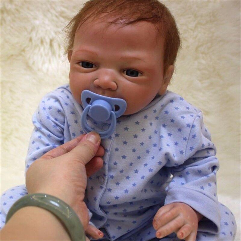 "US Reborn Baby Doll Girl Lifelike Soft Vinyl Silicone Handmade X'mas Gift 18"""