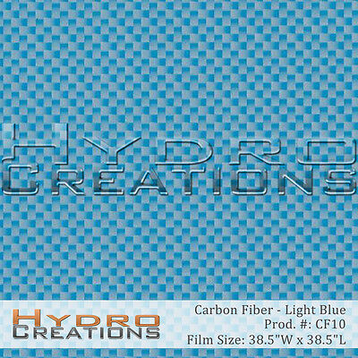 Hydrographic Film Hydro Dipping Water Transfer Film Carbon Fiber - Light Blue