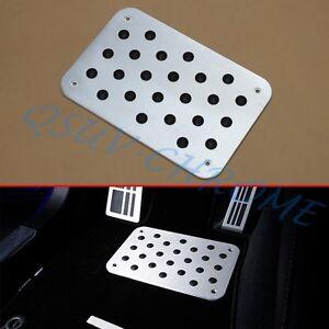 Auto Accessories Aluminum Non-slip Plate Foot Rest Carpet Floor Mat Pad