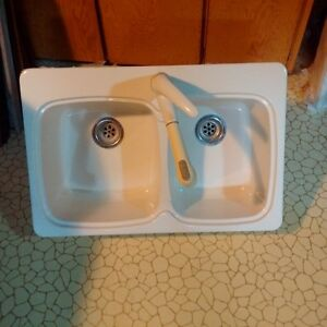 Moen double kitchen sink and faucet