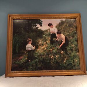 "Reduced! Painting ""picking flowers"" from Bombay Company"