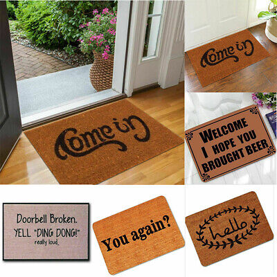 Outdoor Mat Letter Funny Floor Rug Non-slip Doormat Welcome Home Entrance Funny Indoor Outdoor Door Mat