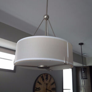 New Brushed Nickel Pendant Light