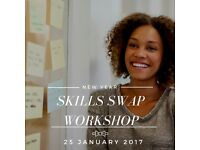 Skills Swap Workshop at the Co Work Hub, North Acton - 25th January 2017