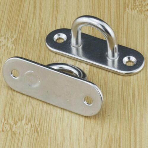U-shaped Wall Mount Hook Hanger 4.5mm Stainlee Steel Pad Eye Plate