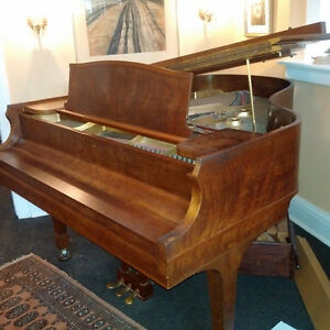 Stunning 6-foot Heintzman Grand Piano with matching bench