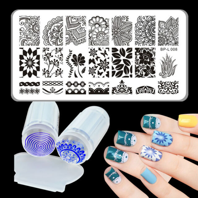 3pcsset Born Pretty Arabesque Nail Art Stamp Plate Silicone Clear