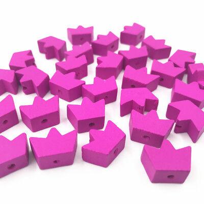 Rose rot Crown Holzperlen Spacer Bead DIY Schnuller Clip machen Kinder Spielzeug