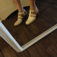 white leather sandals size 36