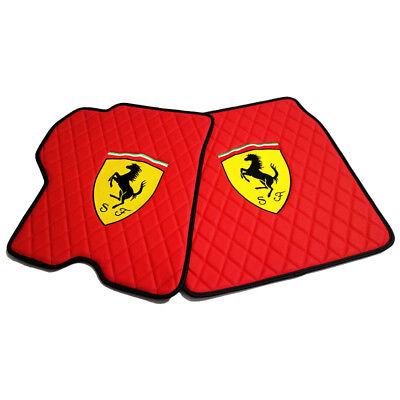 Fits Ferrari California T Eco Leather Diamond Stitch Floor Mats Set 2009 - 2018
