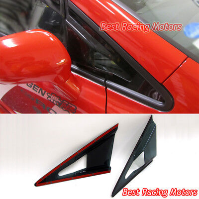 Feels Style Side Mirror Air Vent Visors Fits 06-11 Honda Civic 4dr 4dr Side Mirror