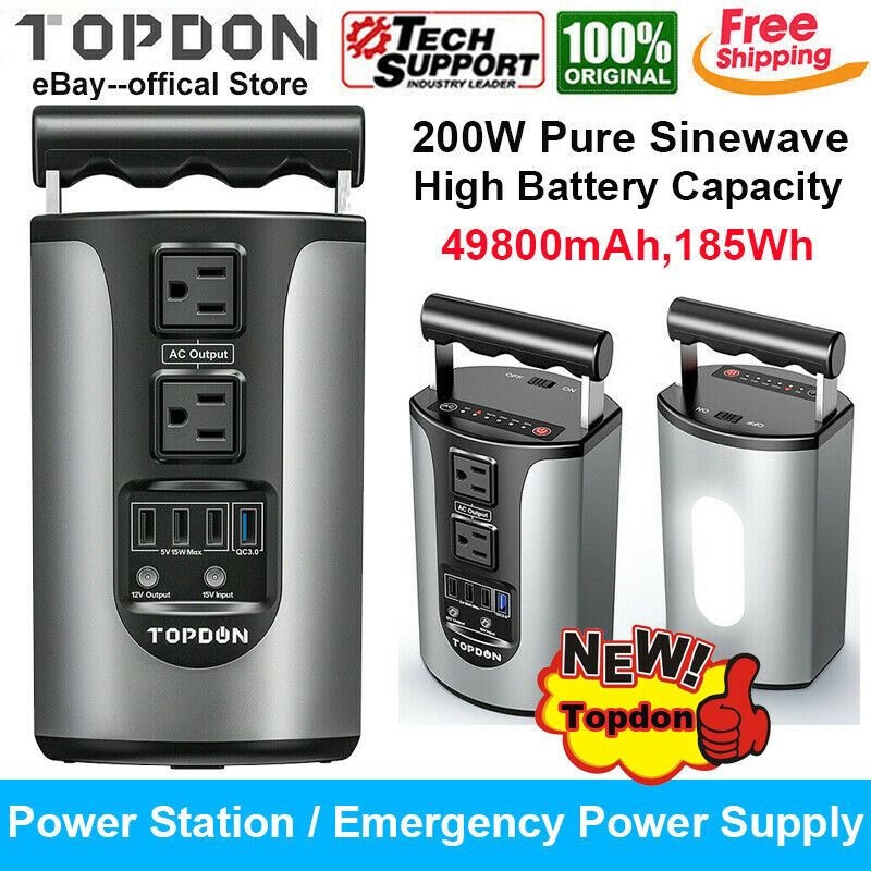 SOLAR POWER Station Portable Rechargeable Lithium Battery Back up Supply AC DC