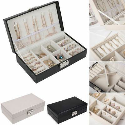 NEW Jewelry Box Organizer Velvet Jewellery Ornaments Necklace Rings Case Storage (Necklace Boxes)