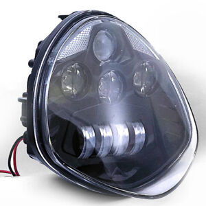 SKTYANTS Victory Headlight Motorcycle LED Headlights BLACK