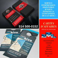 Conception de carte d'affaires, Accroche porte, Busness Cards