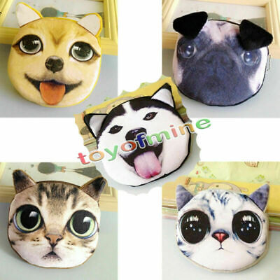 Reißverschluss-kasten (Netter Katze-Hundegesichts-Reißverschluss-Kasten-Münzen-Geldbeutel)