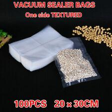 100PCS Vacuum Sealer Saver Bags 25-30CM Precut  Food  Storages Heat Seal Cryovac